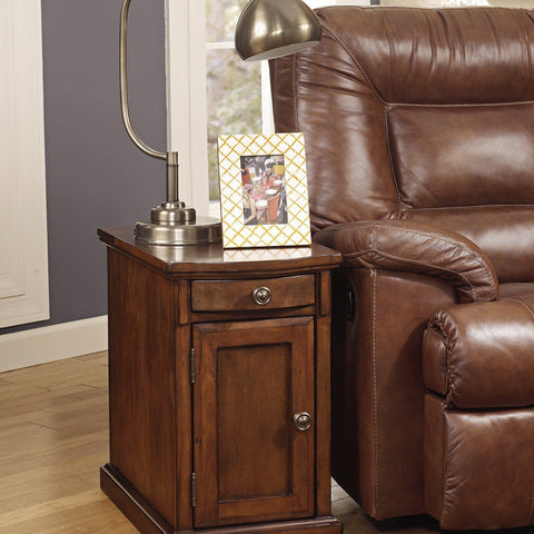 Laflorn Chairside End Table - Concealment furniture and gun concealment furniture to hide your money, pistol, rifle or other weapons, keep guns safe away from kids with hidden compartment furniture -Secret Stashing