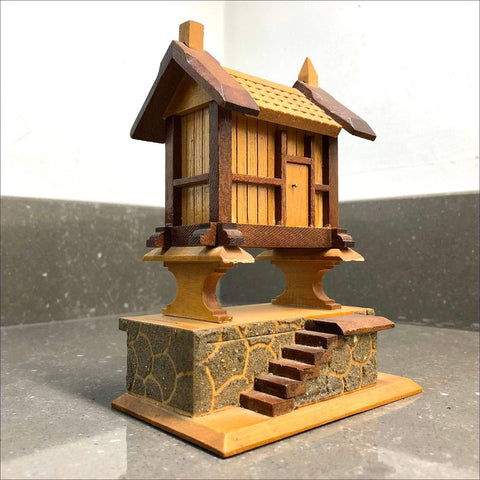 Vintage Japanese miniature house with secret compartments