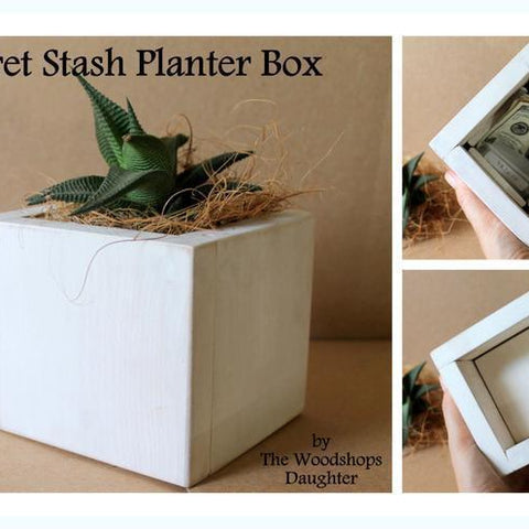 Plant Pot with Secret Hiding Spot - Secret Compartment Decor with hidden compartments to stash your valuables -Secret Stashing