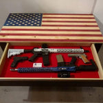 American flag concealment coffee table - Concealment furniture and gun concealment furniture to hide your money, pistol, rifle or other weapons, keep guns safe away from kids with hidden compartment furniture -Secret Stashing