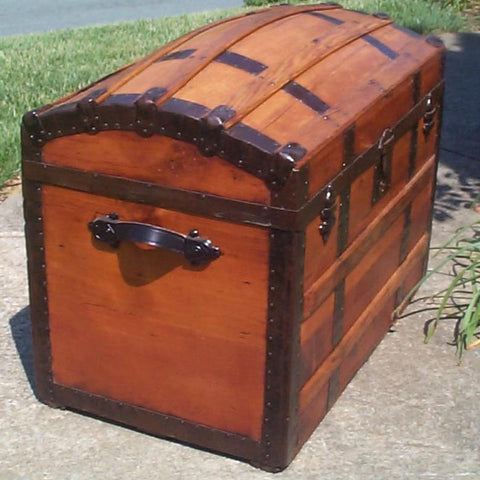 Antique Trunk (1873) with Hidden Compartments under Lid