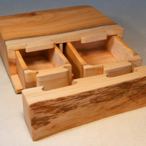 Handcrafted Treasure Box - Concealment furniture and gun concealment furniture to hide your money, pistol, rifle or other weapons, keep guns safe away from kids with hidden compartment furniture -Secret Stashing