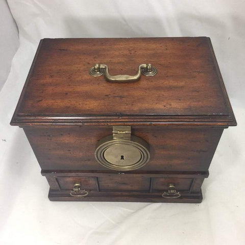 Vintage Handmade Wooden Chest Magical Box with Secret Compartments