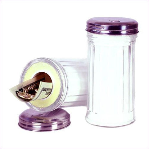 Sugar Dispenser Stash Glass Diversion Safe - Diversion Safes - Hide your stash and money in everyday items that contain secret compartments, if they don't see it, they can't get it -Secret Stashing