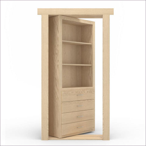 Unfinished Right-Hand Outswing Secret Door - Concealment furniture and gun concealment furniture to hide your money, pistol, rifle or other weapons, keep guns safe away from kids with hidden compartment furniture -Secret Stashing