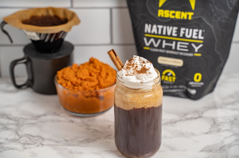 Pumpkin Cream Protein Iced Coffee