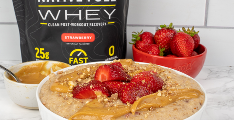 Strawberry & Peanut Butter Protein Oatmeal