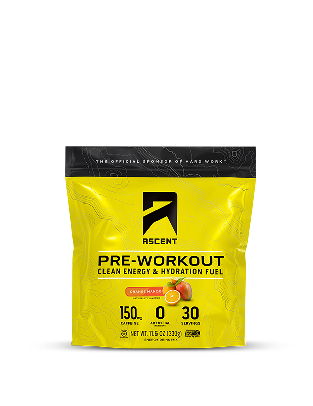 Ascent Orange Mango Pre Workout 30 Servings