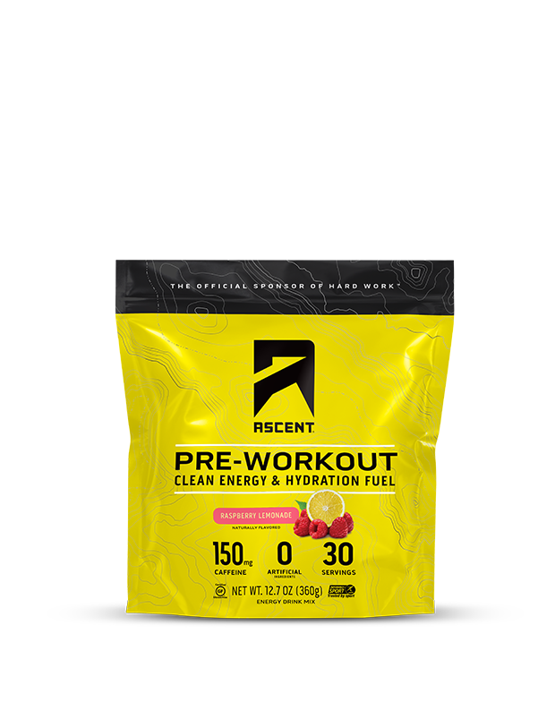 Ascent Raspberry Lemonade Pre Workout 30 Serving