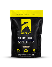 Ascent Vanilla Bean Whey Protein Powder 2lb