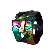 Armbånd Double Multicolor Green Gold Pink