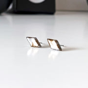 Ørestikker Diamant Simple Pair Silver Mix