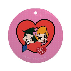Lucy and Ricky Heart Ornament