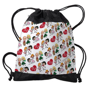 4 CHARACTER DRAWSTRING BAG