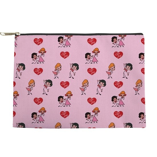 Pink Stick Figure Make Up Pouch