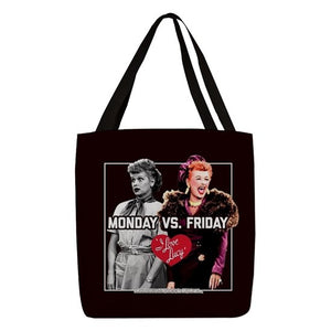 Monday VS Friday Tote Bag