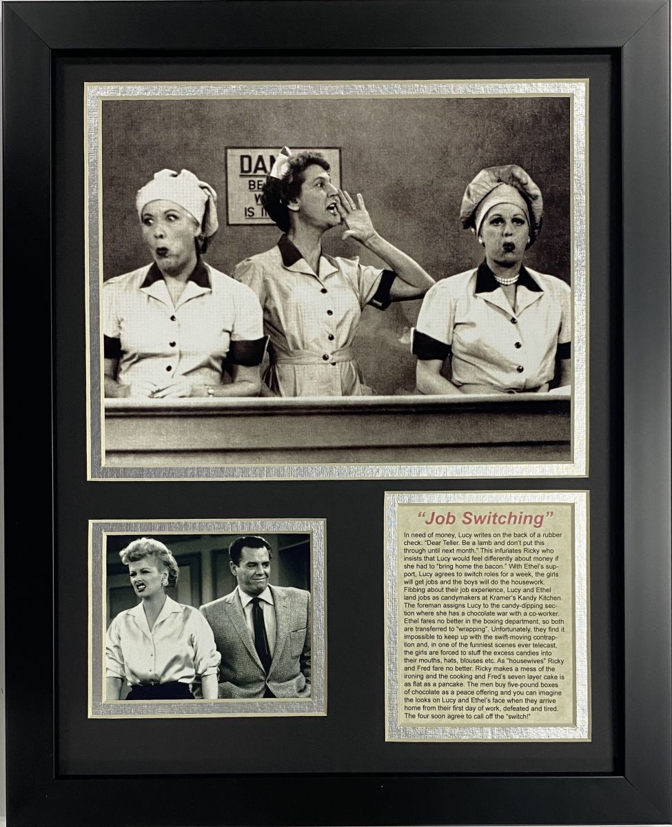 I Love Lucy Chocolate Factory Framed Art