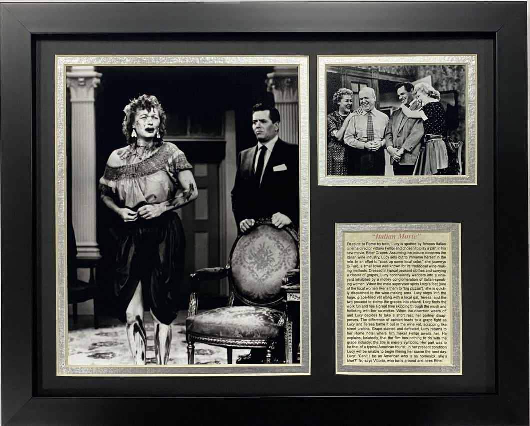 I Love Lucy's Italian Movie Framed Art