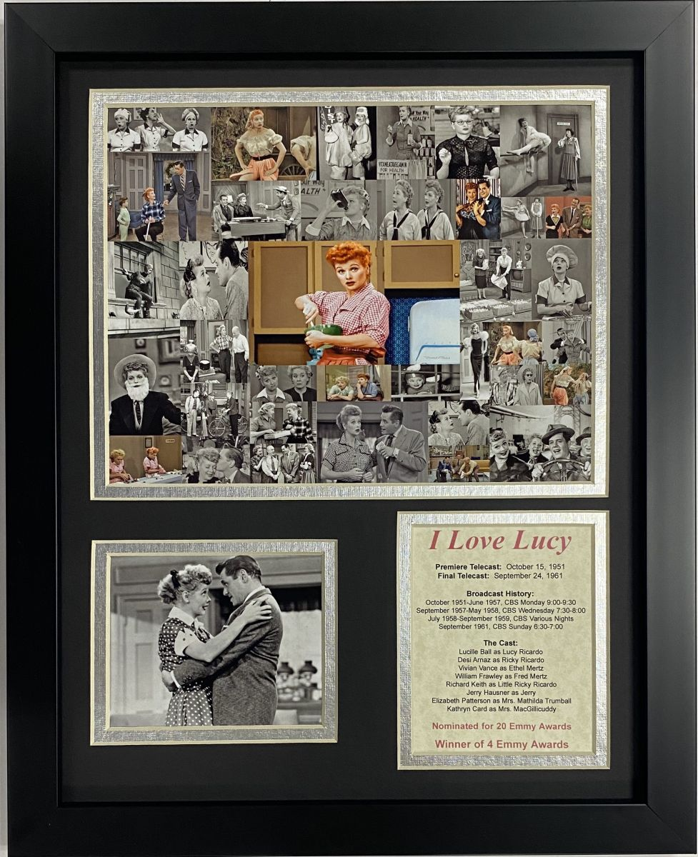 I Love Lucy Collage Framed Art