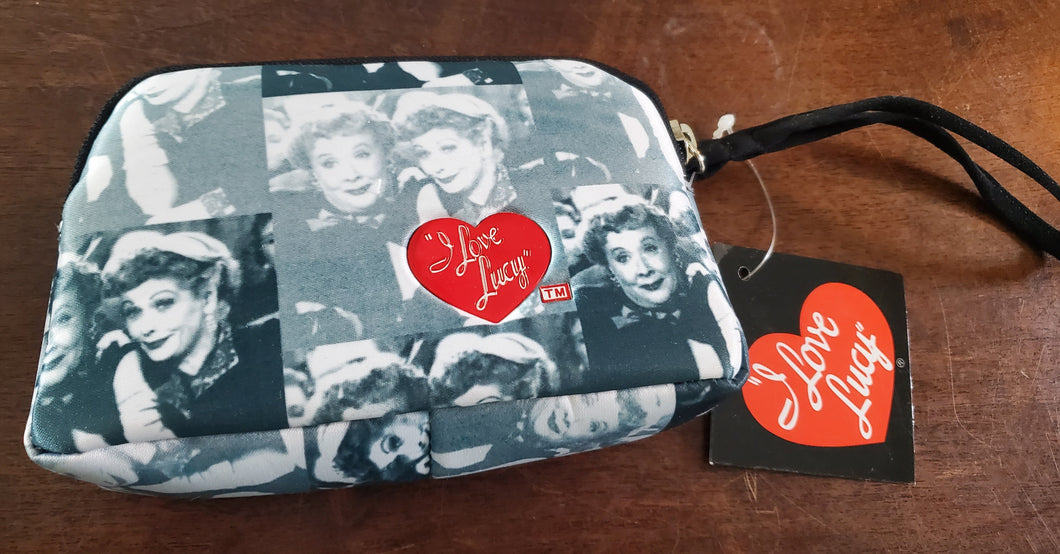 Blue Lucy and Ethel Makeup Bag