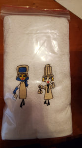 Paris Gowns Hand Towel - Embroidered
