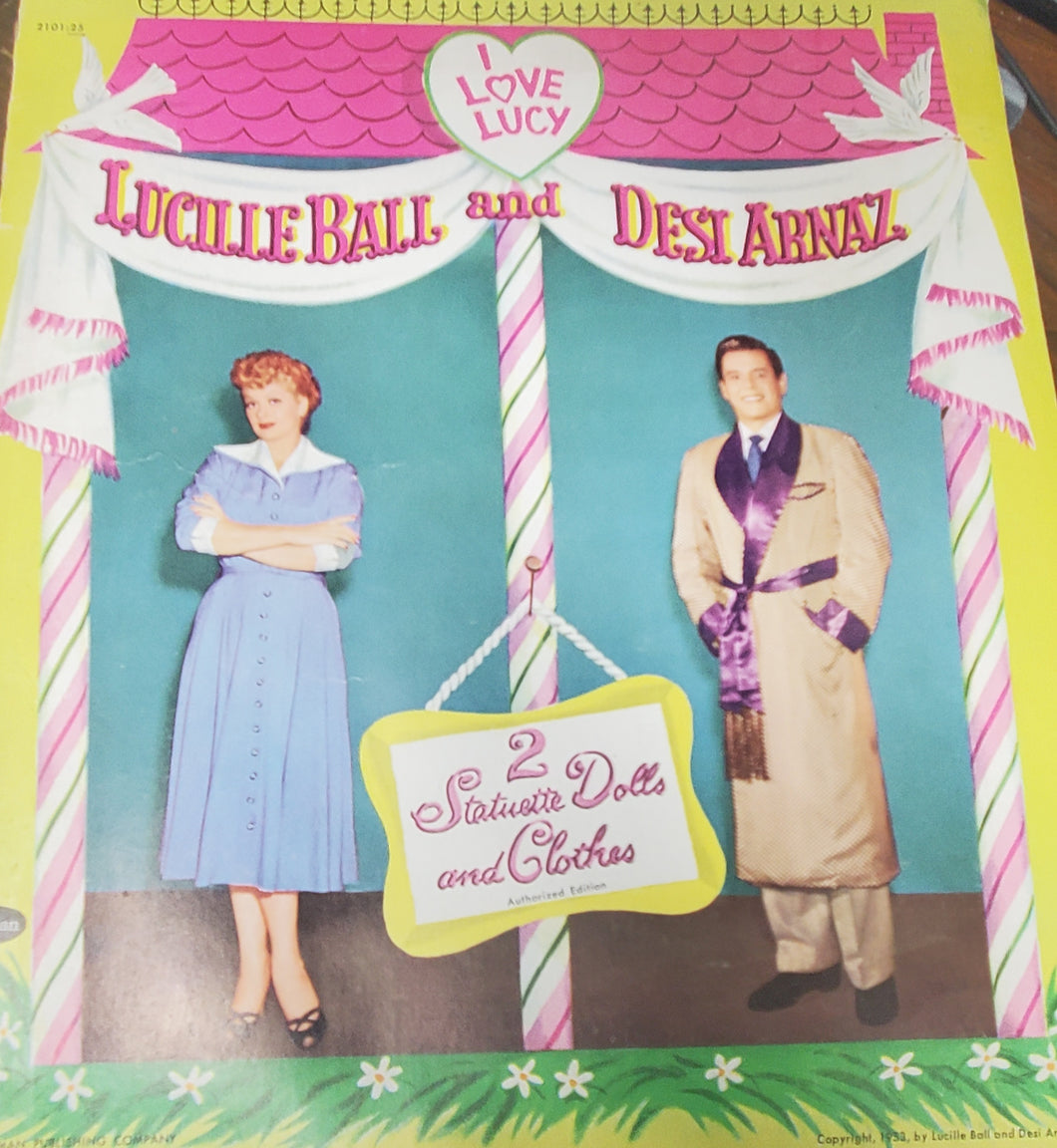 I Love Lucy Lucille Ball and Desi Arnaz Paper Dolls