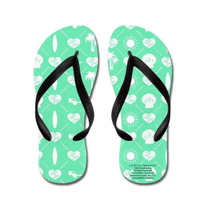 Teal Flip Flops- Kids Large, 1-2