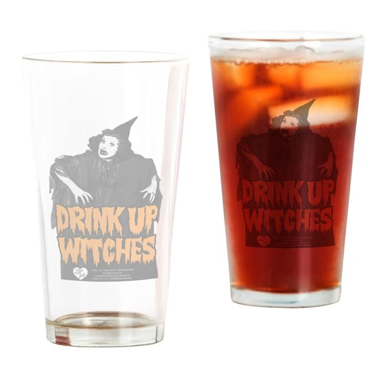 Drink up Witches Drinking Glass 16 ounce