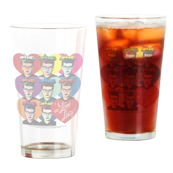 Head shot Drinking Glass 16 ounce