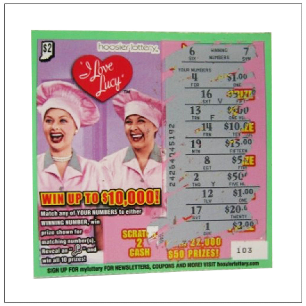 Candy Factory Lottery Ticket