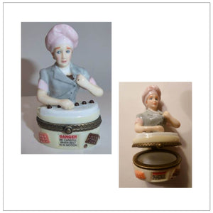 Candy Factory Porcelain Hinged Box