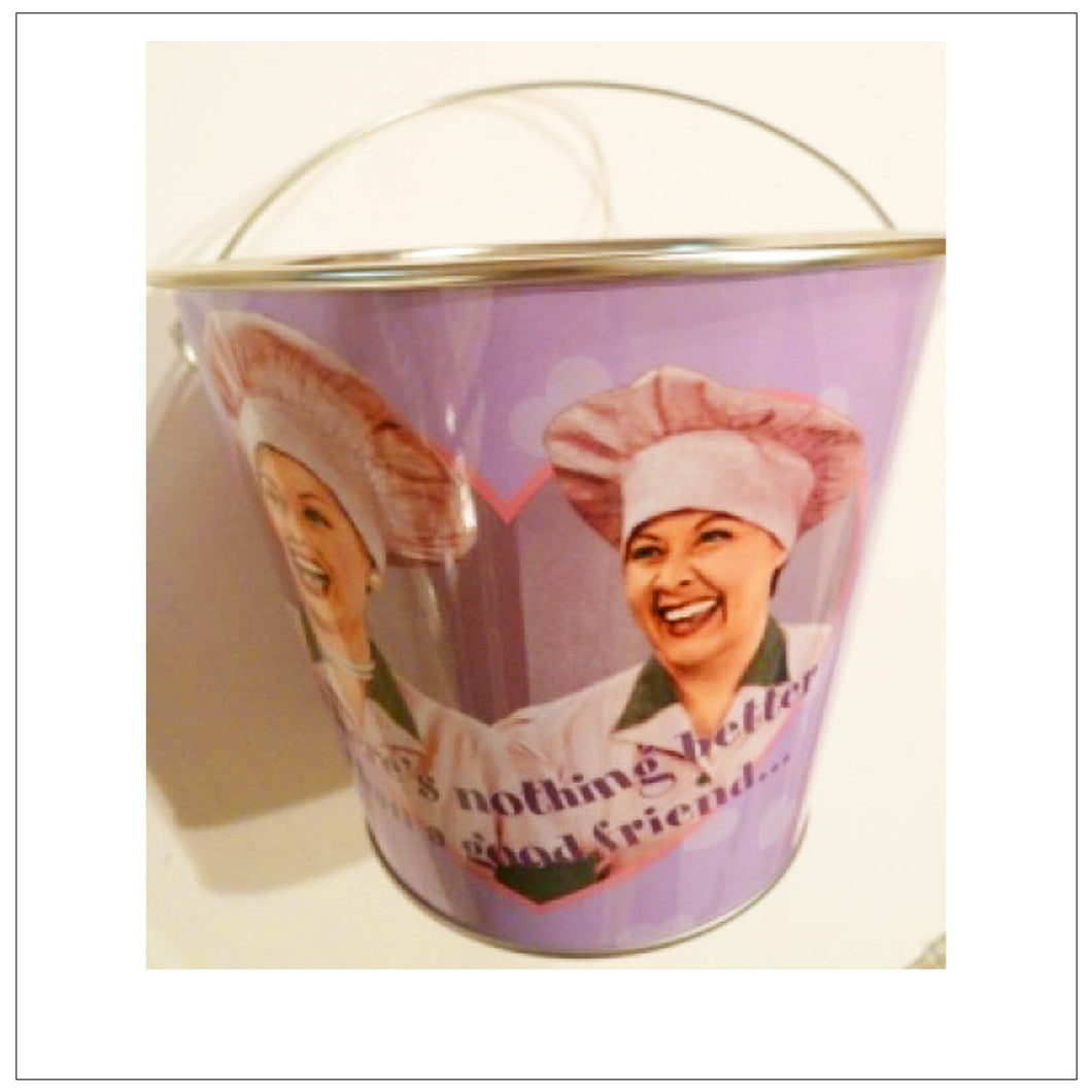 Candy Factory Tin Bucket