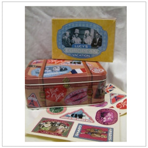 European Vacation Note Card Tin