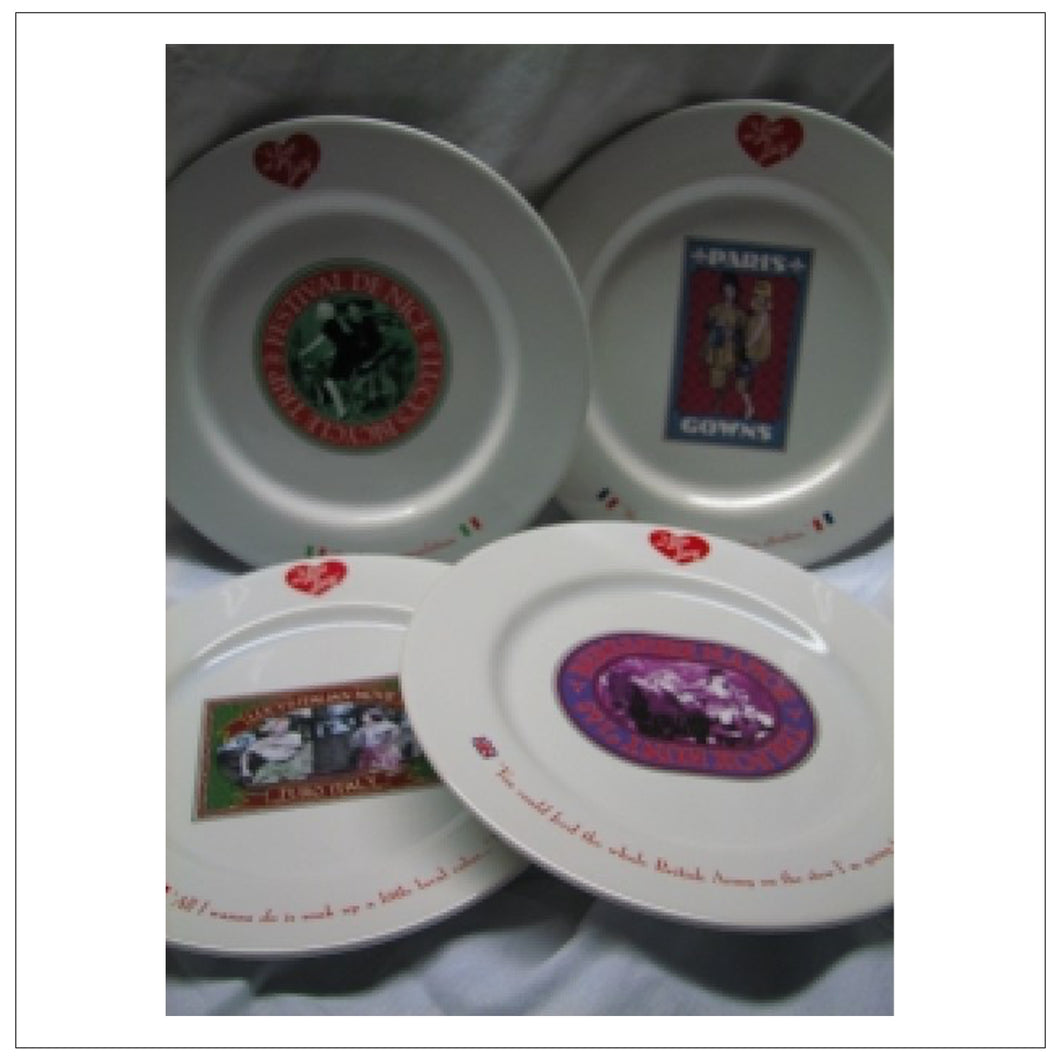 European Vacation Plate Set