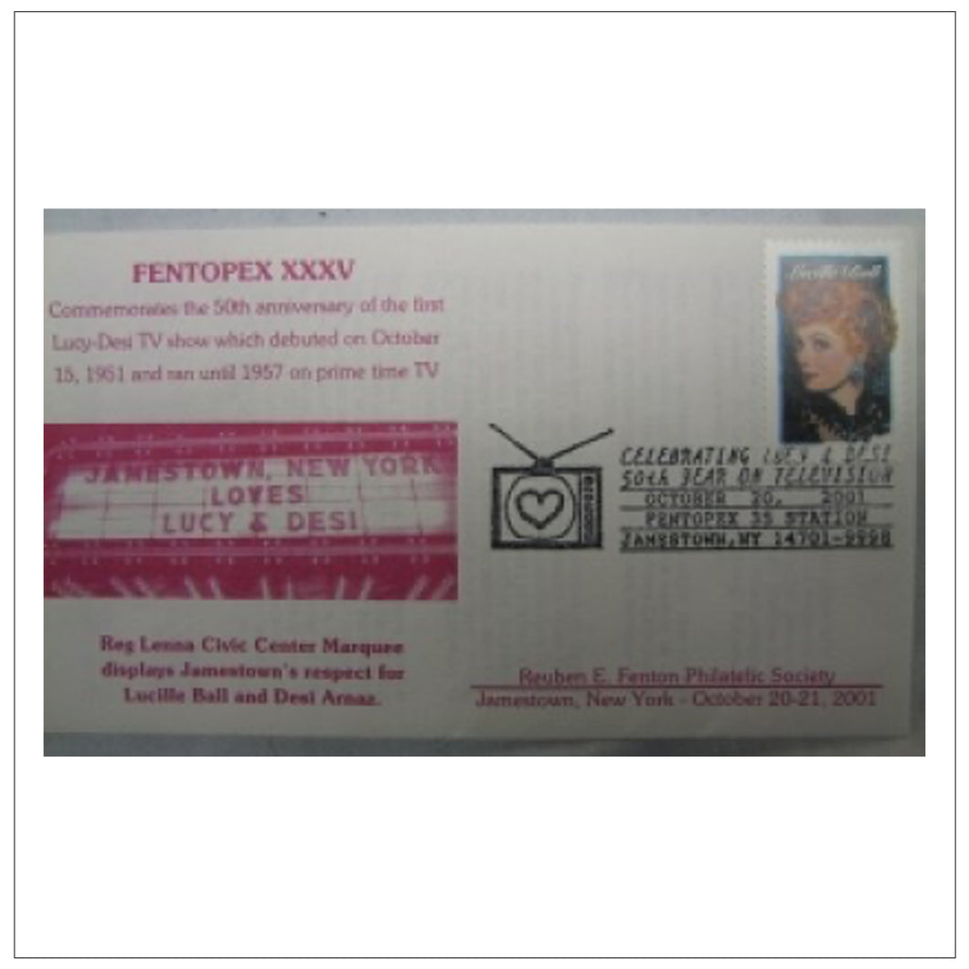 First Day Cover 50th Anny Pink