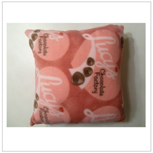 "Fleece 14"" Candy Factory Pillow"
