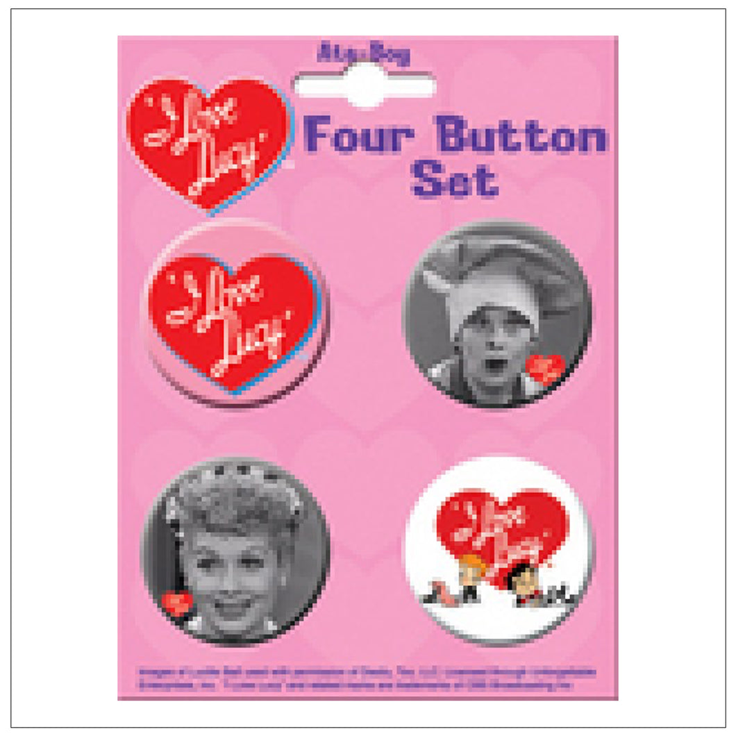 I Love Lucy Button Set #3