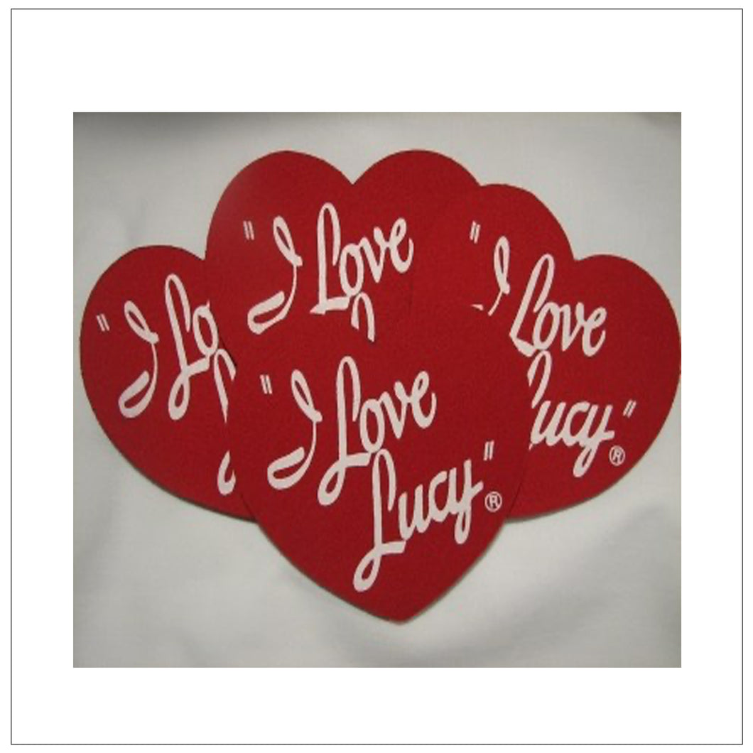 I Love Lucy Heart Coasters