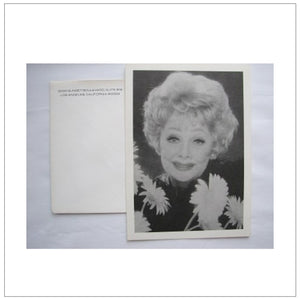 Lucille Ball Memorial Card