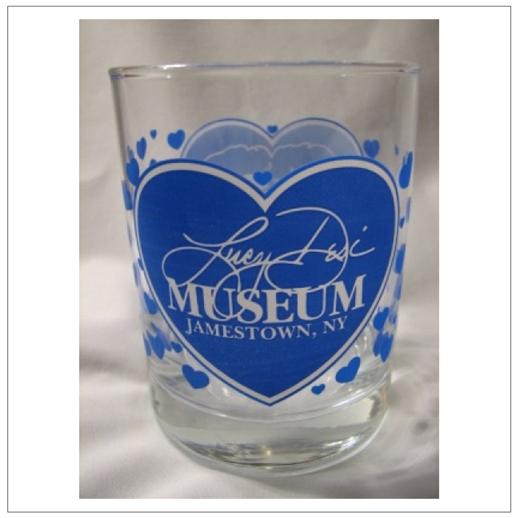 Lucy-Desi Museum Blue Rocks Glass