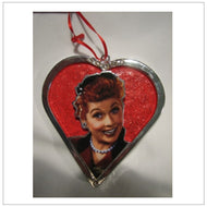 Chromed Lucy Heart Ornament