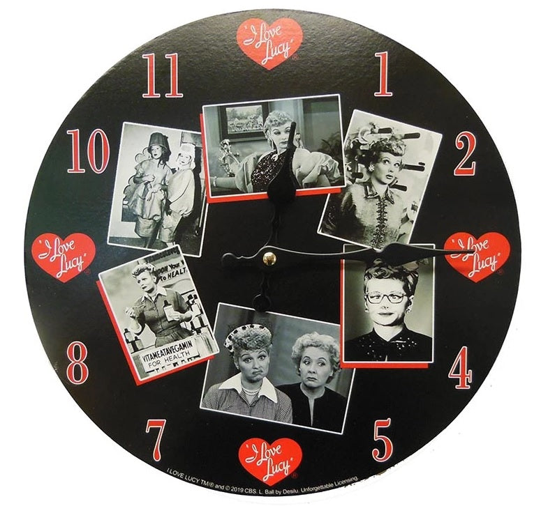 Black and White Lucy Clock