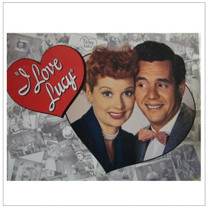Lucy & Desi Tin Sign