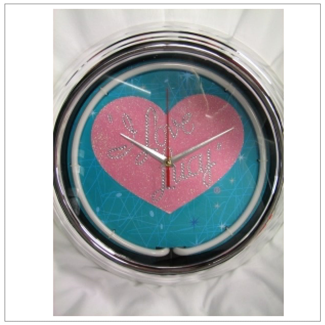 Neon Heart Wall Clock