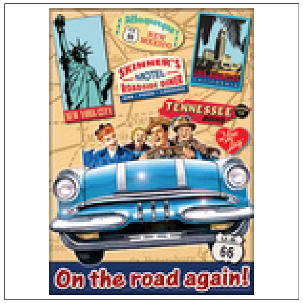 On The Road Again Magnet