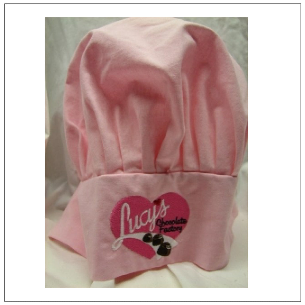 Pink Chocolate Factory Chef Hat