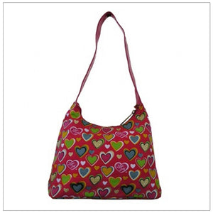 Pink Small Heart Hobo