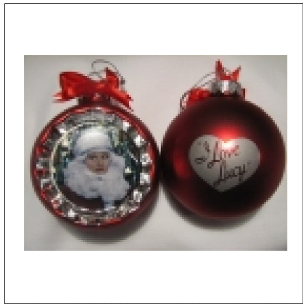 Red Santa Lucy Ornament