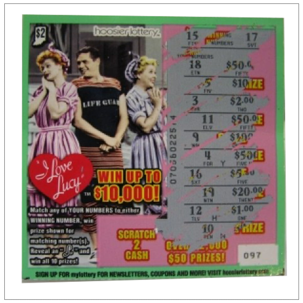 Ricky Lucy Ethel Lottery Ticket