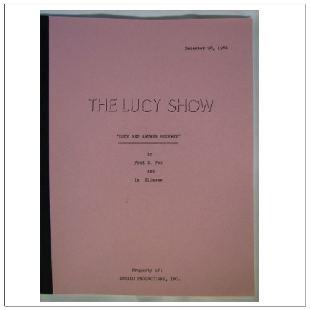 The Lucy Show Script 12/28/64